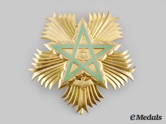 Morocco. An Order of the Throne, Grand Officer Breast Star, c. 1975