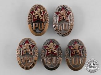 Czechoslovakia, Socialist Republic. A Lot of Military Academy Graduation Badges