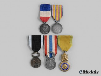 France, III Republic. A Lot of Five Awards