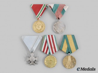 Bulgaria, Kingdom, People's Republic. A Lot of Five Awards