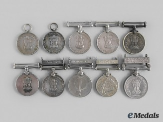 India, Republic. A Lot of Ten Medals