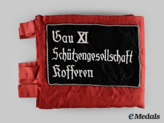 Germany, NSRL. A NSRL Gau XI Kofferen Rifle Club Standard Flag