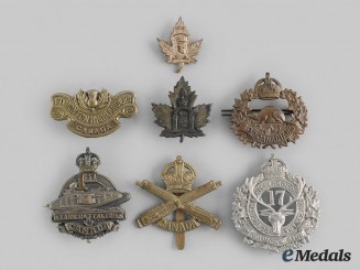 Canada, CEF. Seven First War Badges