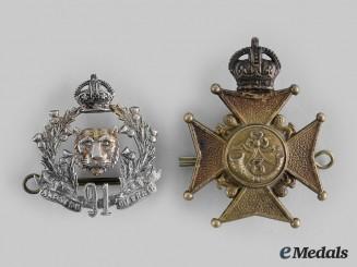 Canada, Dominion. Two Early Twentieth Century Regimental Cap Badges