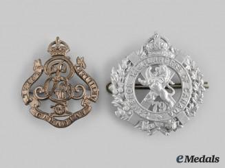 Canada, Dominion. Two Pre-First War Regimental Badges c.1910