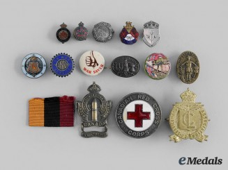 Canada, CEF. A Lot of Fourteen First and Second War Badges