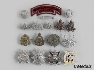 Canada, Commonwealth. A Lot of Seventeen Atlantic Provinces Themed Regimental Badges