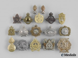Canada, Commonwealth. A Lot of Seventeen Ontario Themed Regimental Badges