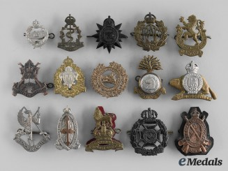 Canada, Commonwealth. A Lot of Fifteen Quebec Themed Regimental Badges