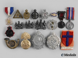 United Kingdom. Lot of Eighteen Badges, Medals, Patches