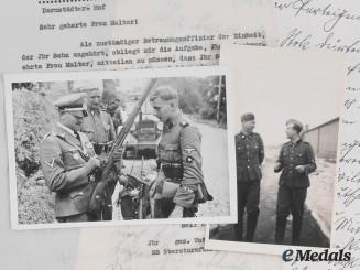 Germany, SS. Feldpost & Documents To Unterscharführer Heinz Glaubrecht, SS-Totenkopf & Prinz Eugen
