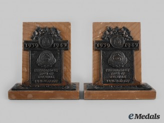 Canada, Commonwealth. Town of Oakville Commemorative Bookends, to E.G. Pullen