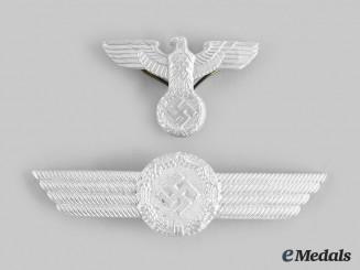 Germany, Luftwaffe. A Set of Luftwaffe Civilian Personnel Cap Insignia