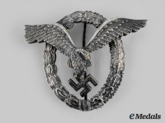 Germany, Luftwaffe. A Pilot's Badge, by Berg & Nolte