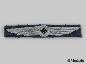 Germany, DLV. A Pilot's Badge, Uniform Removed