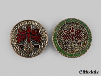 Germany, Third Reich. A Pair of 1942 Tirol Shooting Badges