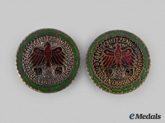 Germany, Third Reich. A Pair of Tirol Shooting Badges
