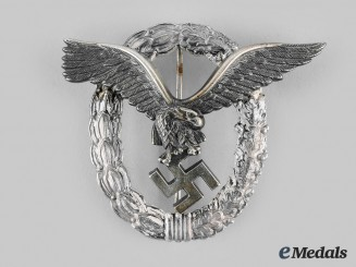 Germany, Luftwaffe. A Pilot's Badge, by Gebrüder Wegerhoff