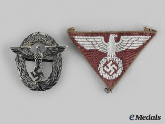 Germany, Third Reich. A Pair of Cap Insignia