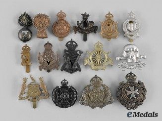 United Kingdom. A Lot of Fifteen Cap Badges