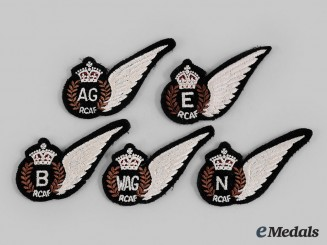 Canada, Commonwealth. Five Second War/Post Royal Canadian Air Force (RCAF) Wings