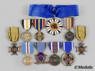 United States. A Lot of Ten National Guard Awards
