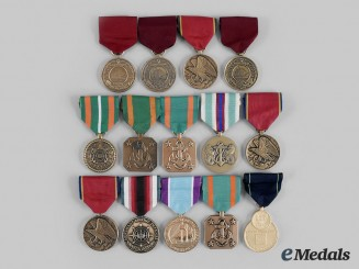 United States. A Lot of Fourteen Merchant Marine, Navy and Coast Guard Medals