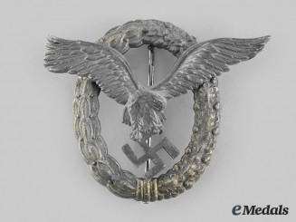 Germany, Luftwaffe. A Pilot and Observer Badge, by Friedrich Linden