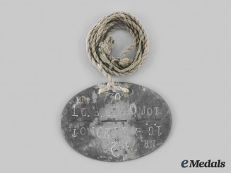 Germany, Heer. A Grenadier-Ersatz-Bataillon 120 (Motorized) Identification Tag