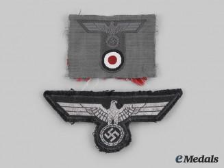 Germany, Heer. A Pair of Heer Eagle Insignia
