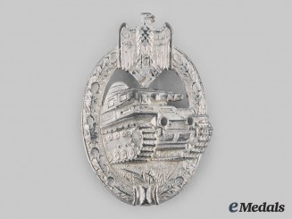 Germany, Wehrmacht. A Panzer Assault Badge, Silver Grade, by Adolf Scholze