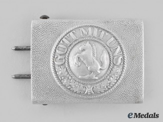Germany, Federal Republic. A North Rhine-Westphalia Police EM/NCO's Belt Buckle