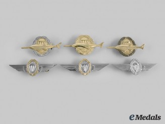 Germany, Federal Republic. A Lot of Six Paratrooper Badges