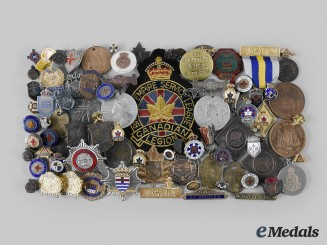 Canada, United Kingdom. A Lot of Eighty Assorted Medals and Badges