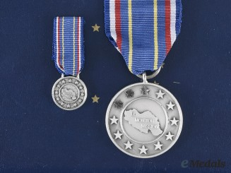 International. A European Community Monitor Mission Medal, Fullsize and Miniature