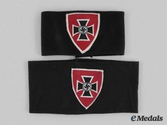 Germany, Kyffhäuserbund. A Pair of National Socialist Reich Warriors Association Kyffhäuser Membership Armbands