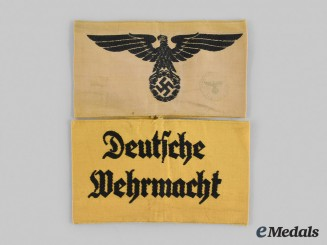 Germany, Third Reich. A Pair of Auxiliary Personnel Armbands