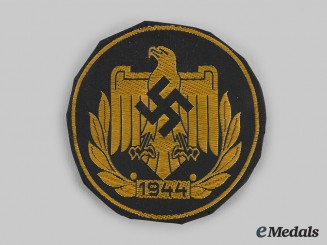 Germany, NSRL. A 1944 NSRL Sports Badge, Gold Grade, Cloth Version