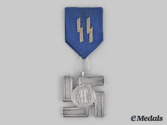 Germany, SS. A SS Long Service Award, II Class for 12 Years with Ribbon