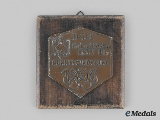 Germany, DRL. A 1936 DRL Summer Olympic Games Commemorative Plaque