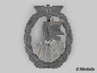 Germany, Kriegsmarine. An Auxiliary Cruiser War Badge, by Förster & Barth