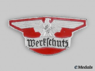 Germany, Third Reich. A Werkschutz Personnel Badge, by Hermann Aurich