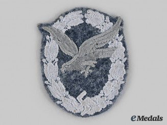 Germany, Luftwaffe. An Air Gunner Badge, Cloth Version
