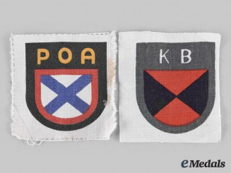 Germany, Wehrmacht. A Pair of Wehrmacht Eastern Volunteer Arm Shields