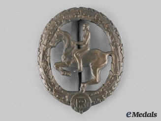 Germany, Third Reich. A German Equestrian Badge, Bronze Grade, III Class