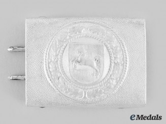 Germany, Third Reich. A Westphalia State Police Personnel Belt Buckle