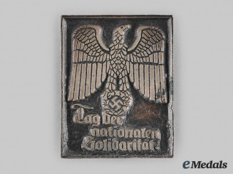 Germany, Third Reich. A Day of National Solidarity Badge