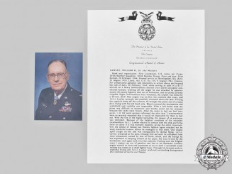 United States. A Signed Photograph of MOH Recipient, February 20, 1944, 364th Bombardment Squadron