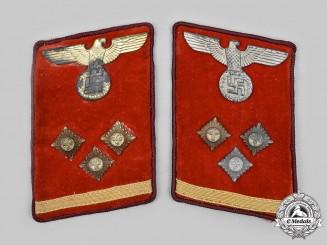 Germany, NSDAP. A Set of Gau-Level Obereinsatzleiter Collar Tabs