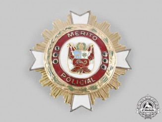 Peru, Republic. An Order of Merit of the National Police of Peru, Grand Cross Star, c.1995
